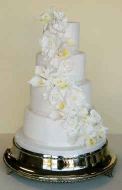 White Calla Lily Wedding Cakes Google Search Moon And Stars - Calla Lilly Wedding Cake