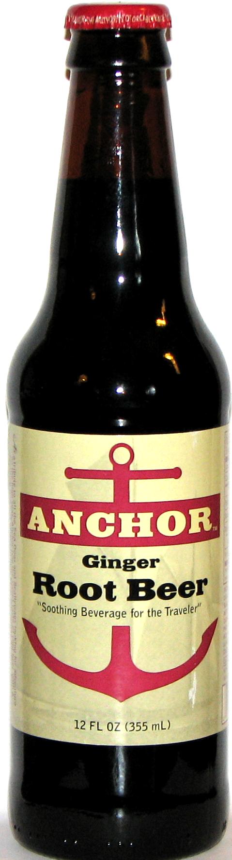 Anchor Ginger Root Beer bottle. Bottled by Orca Beverage