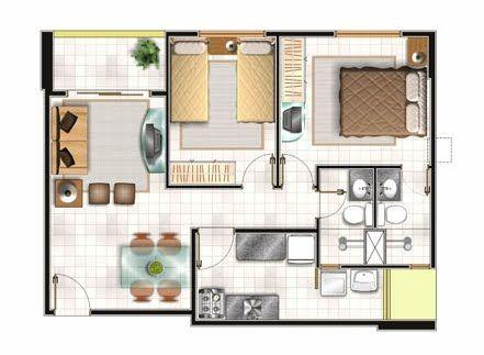 Ideas de distribucion casa peque a planos fotos for Ideas de construccion de casas pequenas