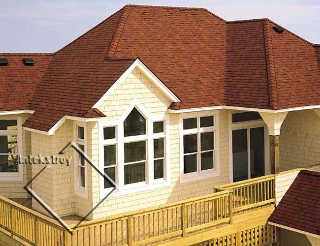 Photo Of Roof With Landmark Cottage Red Shingles | ... кровля Certainteed  серия Independence