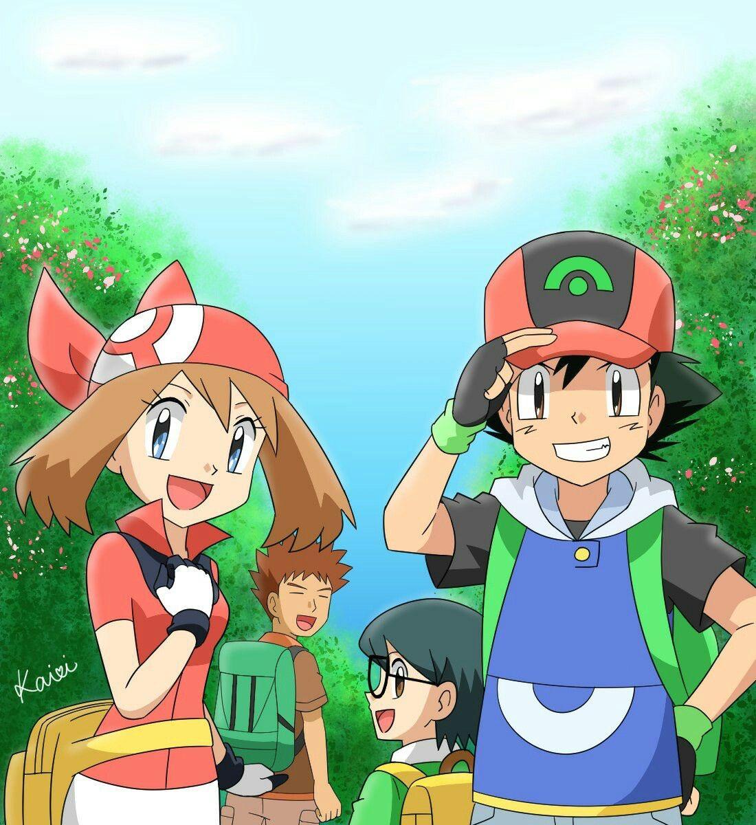 Ash y sus amigos de hoenn