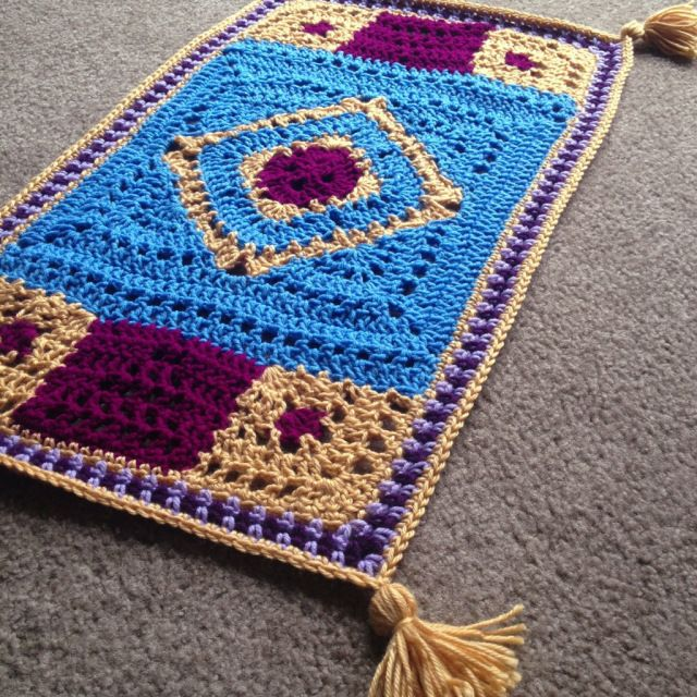 Magic Carpet Throw Fun For The Kids Crochet Knit Rugs