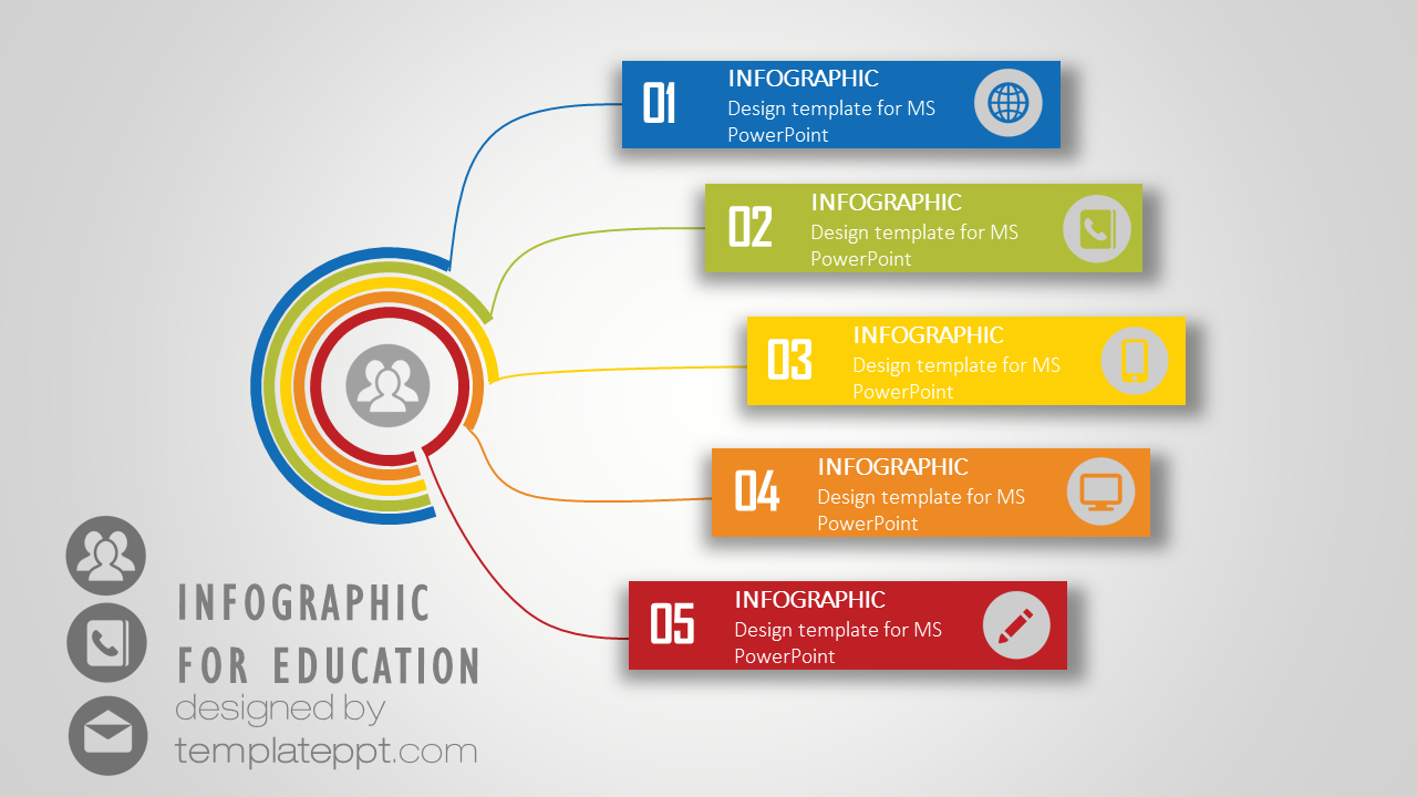 Infographic Network Diagram PowerPoint for teaching Free