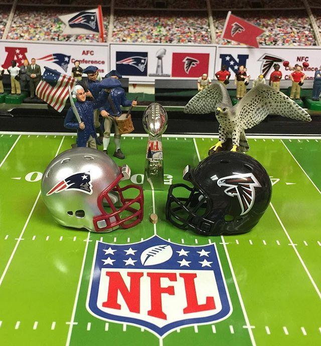 Super Bowl Li New England Patriots Vs Atlanta Falcons Electricfootball Su New England Patriots Football New England Patriots Merchandise Atlanta Falcons Logo