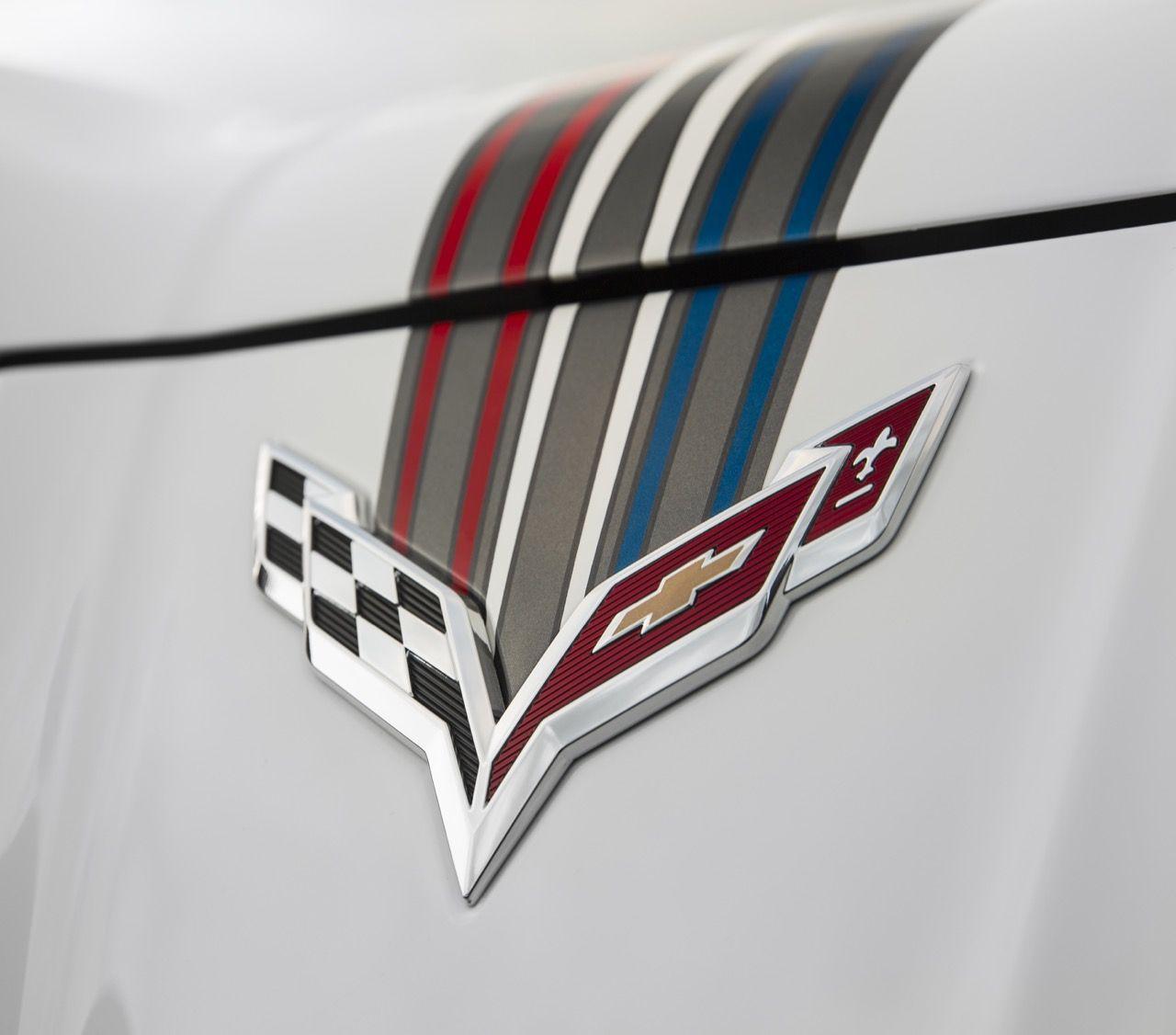 C7 Corvette Wall Emblem Script Large Metal Art 2014 and Newer Corvettes