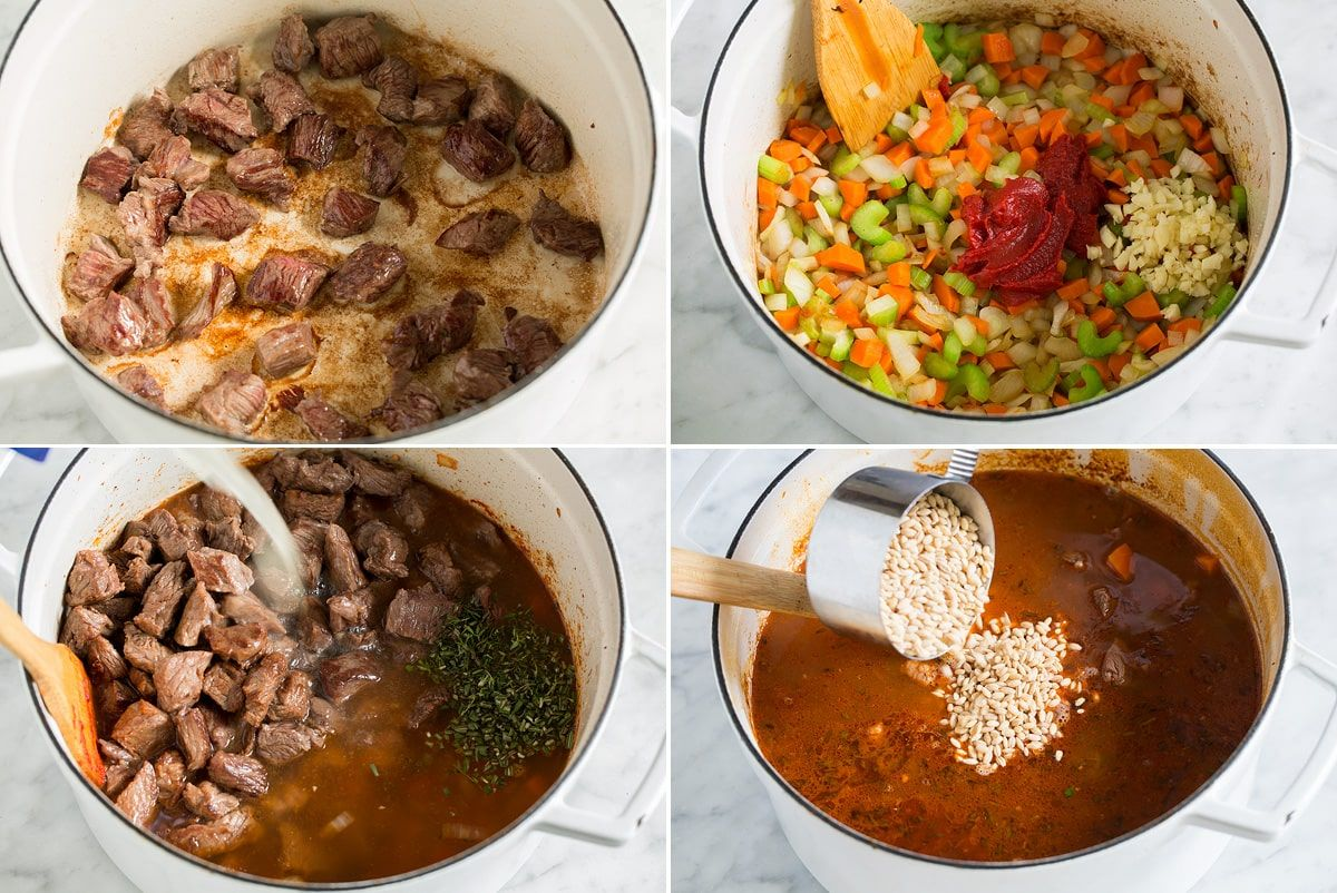 Beef Barley Soup rich and hearty and perfectly cozy