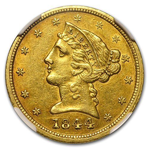 1844 D 5 Liberty Gold Half Eagle Au 55 Ngc G5 Au 55 Ngc World