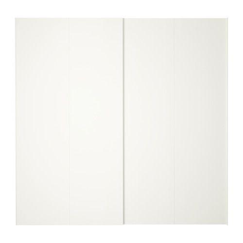 Ikea Hasvik Coulissantes2 Pièces BlancMaison Sous Portes n0wON8vm