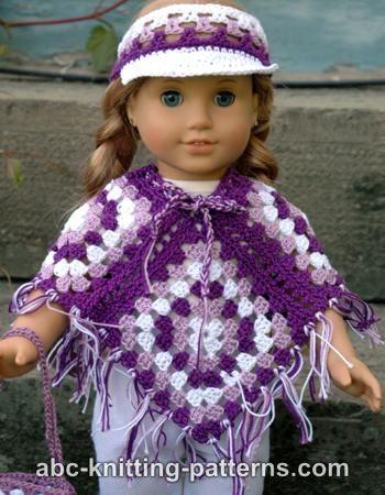 American Girl Doll Granny Square Poncho | Crochet Doll Clothes ...