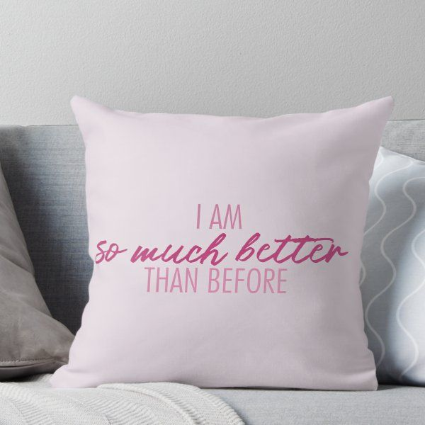 So Much Better Legally Blonde Lyrics Throw Pillow By