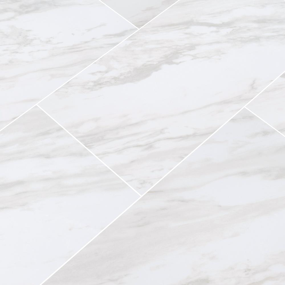 Home Decorators Collection Kolasus White 12 In X 24 In Polished Porcelain Floor And Wall Tile 16 Sq Ft Case Nhdkolwhi1224p The Home Depot Porcelain Flooring Flooring Floor And Wall Tile