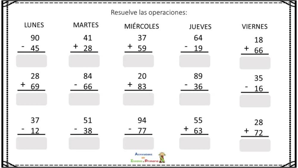 Cuadernillo De Sumas Y Restas Para Verano Operacion Problemas Matemáticos Suma Y Resta