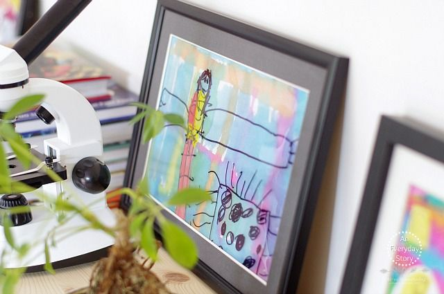 Art on the Shelf of a Reggio-inspired Homeschool - An Everyday Story