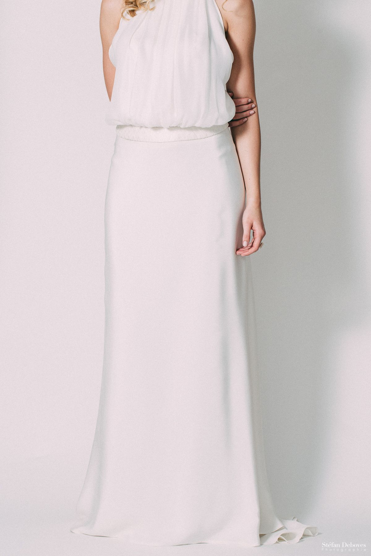 Simple dress for civil wedding  Pin by Claire Joly on Catalogue robe de mariée Claire Joly création