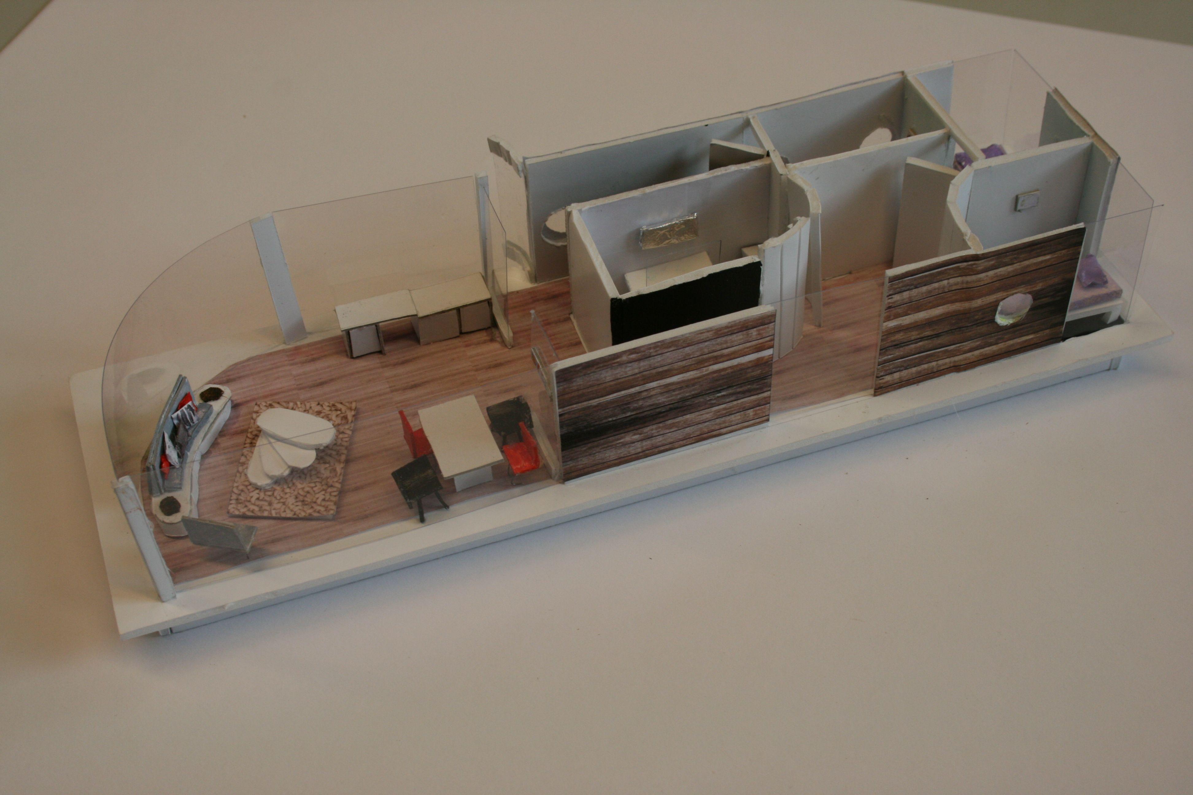 2e jaar woonboot project cibap interieur opleiding zwolle for Interieur opleiding