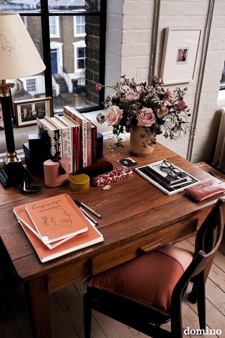 First Look: Inside Alexa Chungs London Office -  desk decor ideas  - #alexa #ArtLessons #chung #Chungs #Design #FamousArtists #first #inside #InteriorDesign #london #office