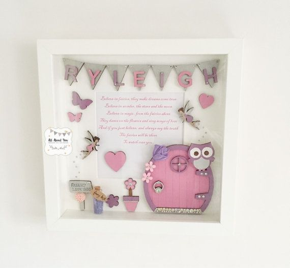 This fairy frame is perfect for a little girls bedroom. Hand ...