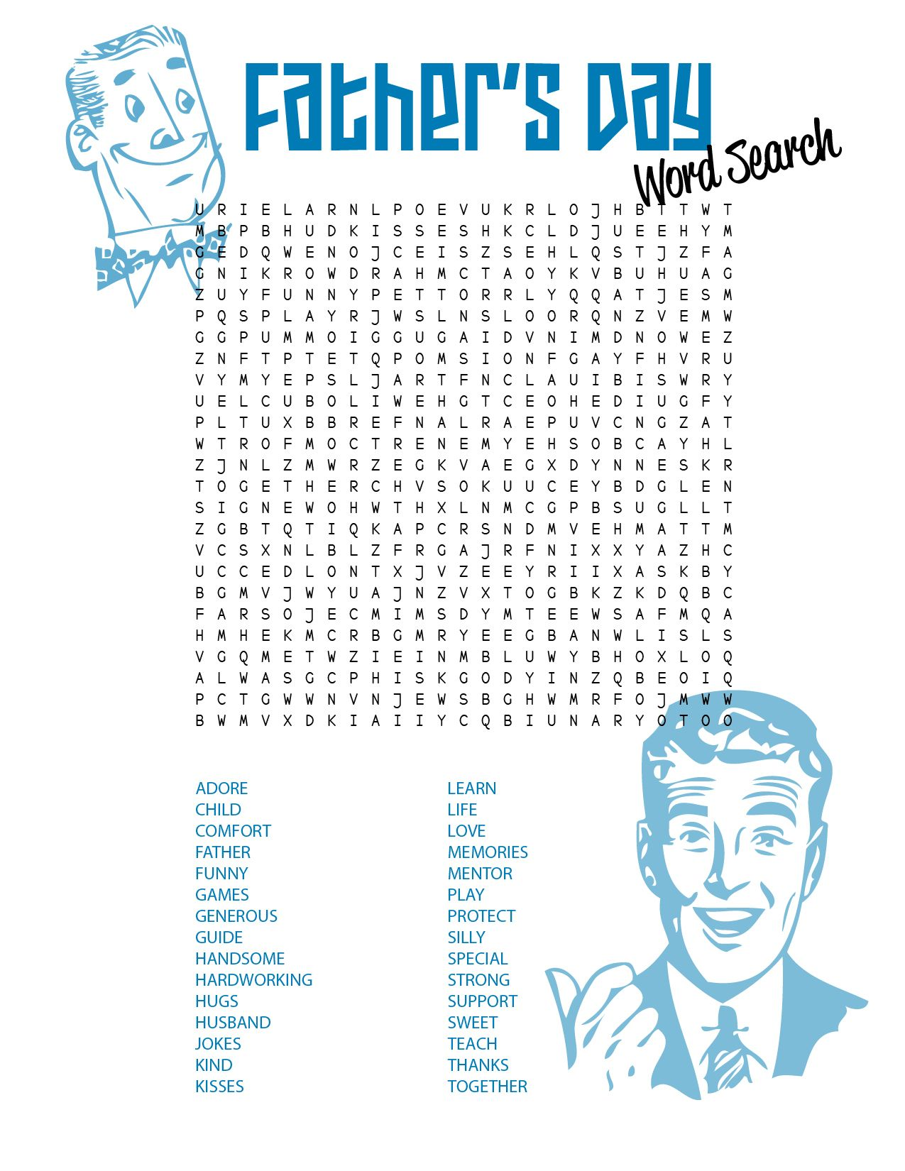 Father S Day Free Printable Sweet Anne Designs Father S Day Words Free Printable Word Searches Word Search Printables