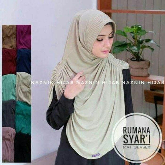 Jilbab Instan Hijab Instan Rumana Syar I Jersey Hijab Instan Berpad Model Rumana Dengan Ukuran Syar I Pada Bagian Bahu Kiri Hijab Designs Hijab Fashion Hijab