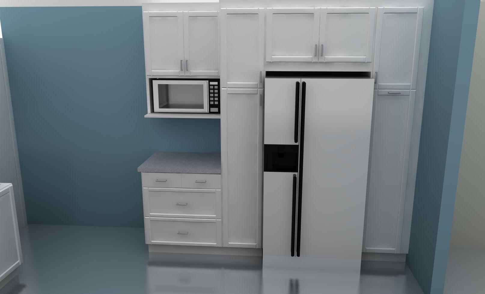Fridge Idea Tall Kitchen Cabinets Kitchen Pantry Cabinet