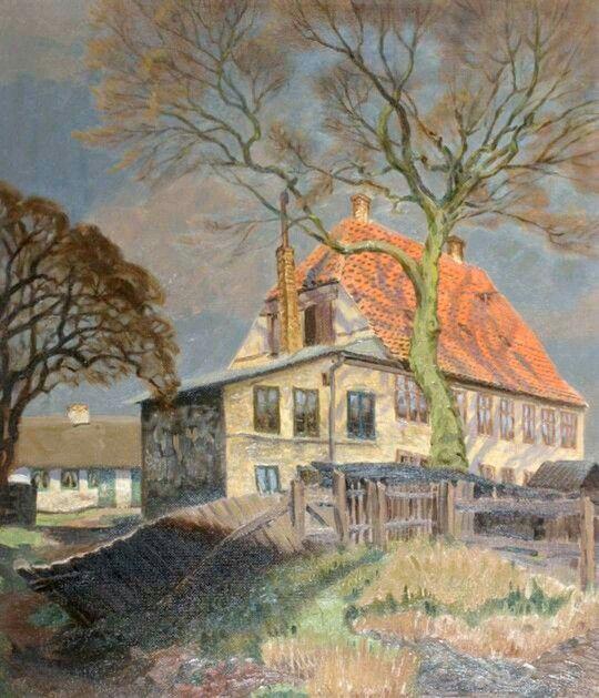Slottet I Utterslev 1940 Kobenhavns Museum Painting Art