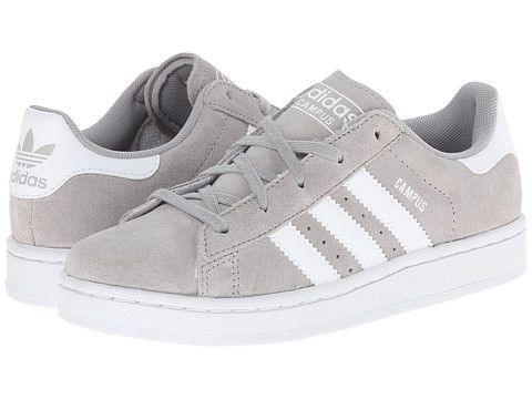 new arrival 52801 44119 adidas Originals Kids Campus 2 (Little Kid) GreyWhite - Zappos.com Free  Shipping BOTH Ways