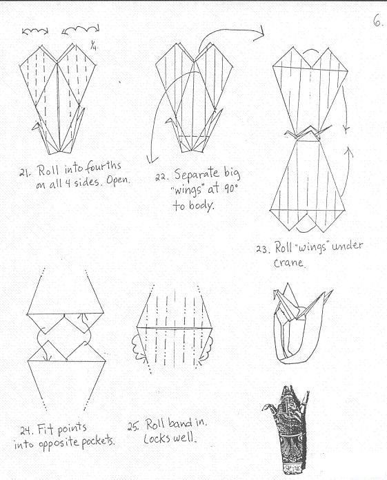 notes ring crane origami tutorial