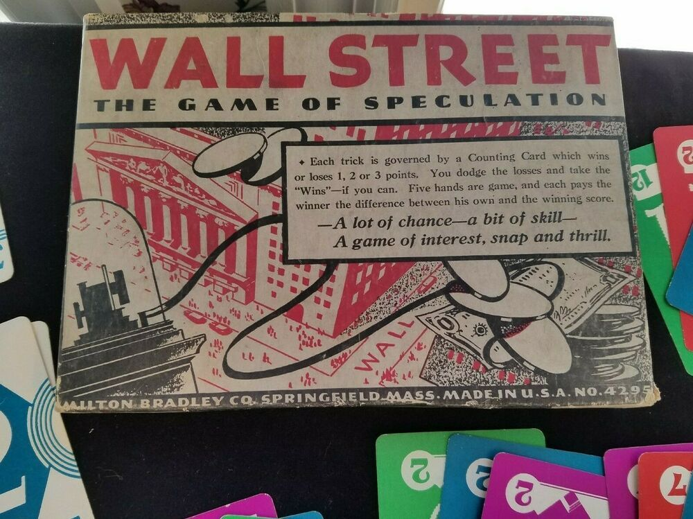 1933 Milton Bradley Card Game WALL STREET Speculation