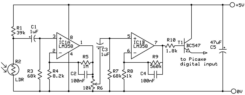Simple and sensitive finger-type pulse detector | Let\'s Make Robots ...