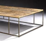 A Patinated Steel Coffee Table
