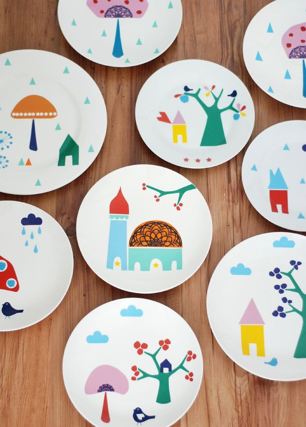 Colourful plates, would look great on the wall as a collection.