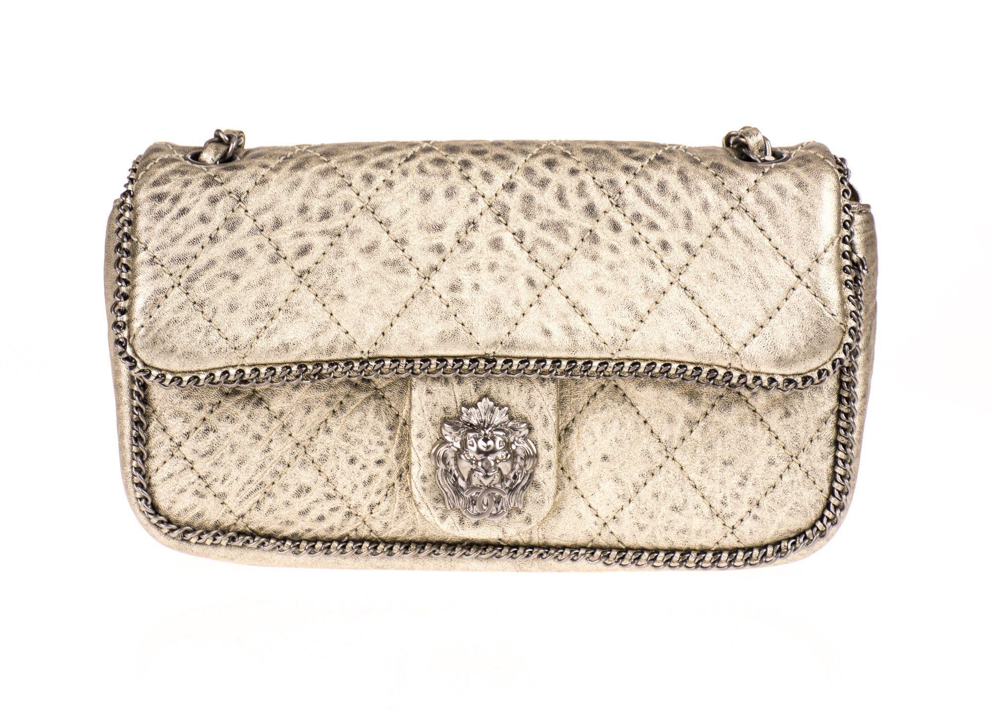 e8cb2c76984a Chanel Medium Metallic Leo Lion Flap Bag | Products | Pinterest ...