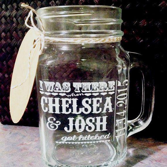 Wedding Mason Jar Labels WHITE INK Sticker By SpotMyStuff