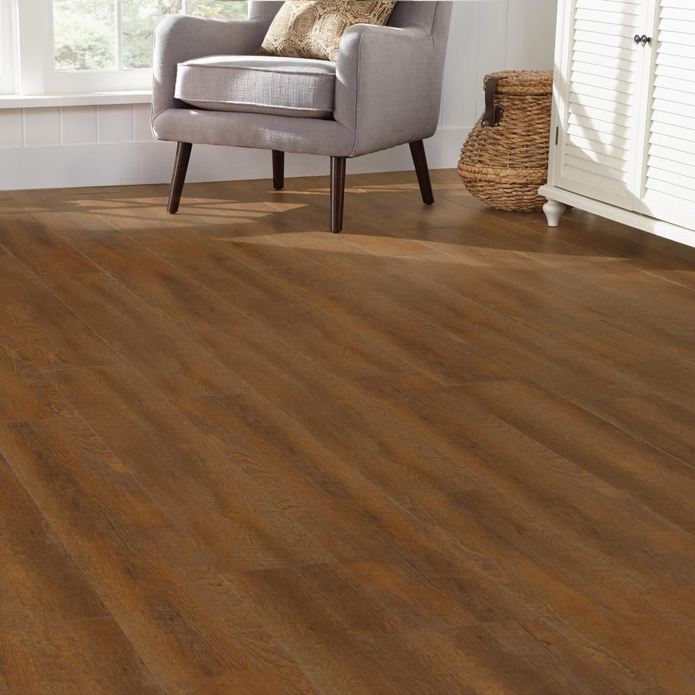 Plastic Flooring For Home: 7.5 In. X 47.6 In. Sawcut Classic Luxury Vinyl Plank