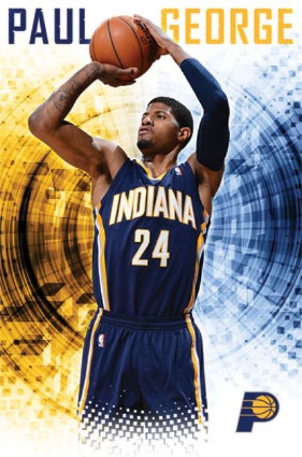 4500a210b Indiana Pacers - Paul George 2013 Poster Print (24 x 36) - Item    TIARP13325 - Posterazzi