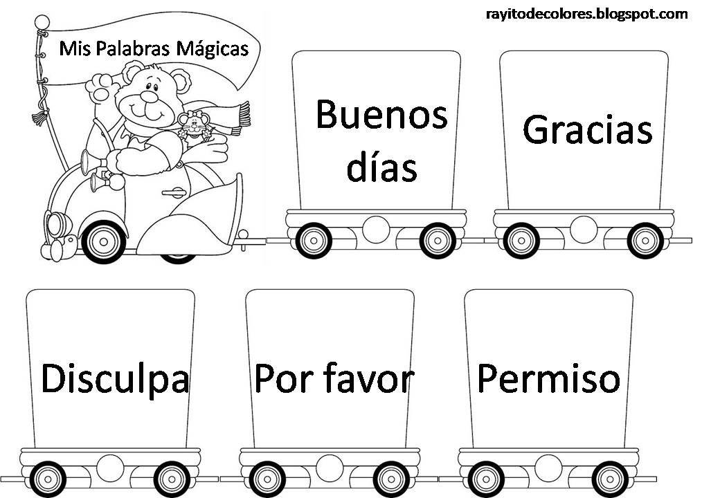 Carteles De Palabras Magicas Buenos Modales Para Ninos Modales Ninos Buenos Modales