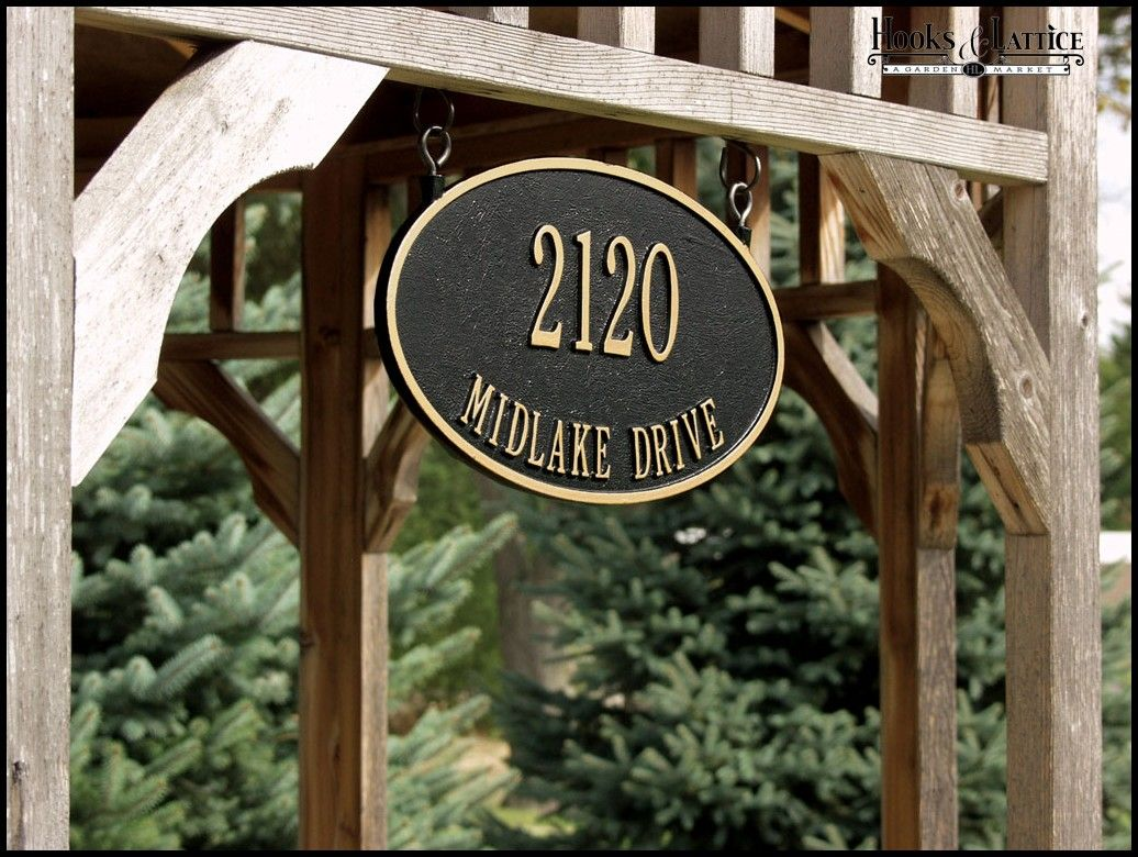 The Best Shape And Style Of Address Plaques For Homes That You