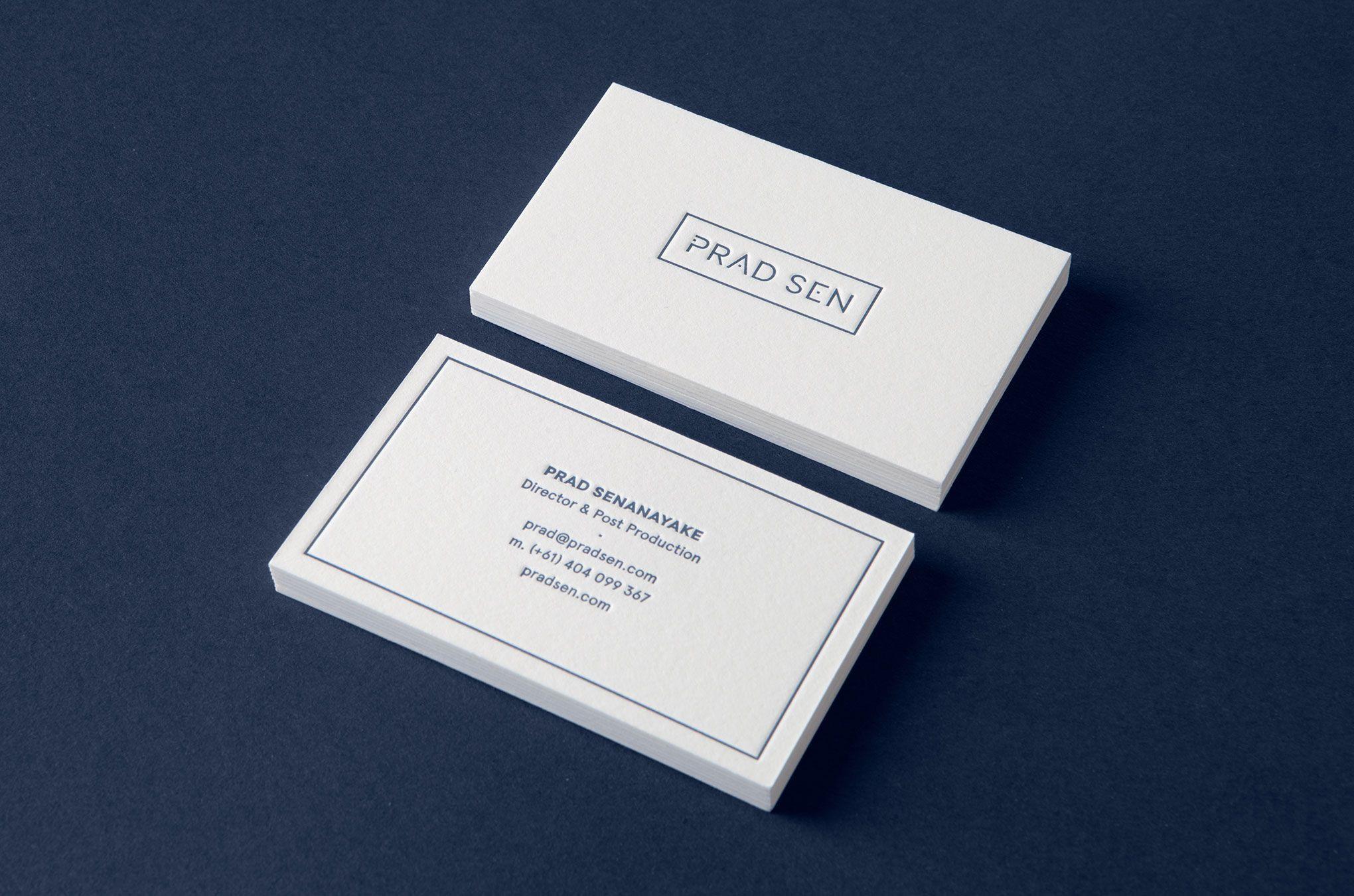 Prad Sen business card designed by Shorthand.