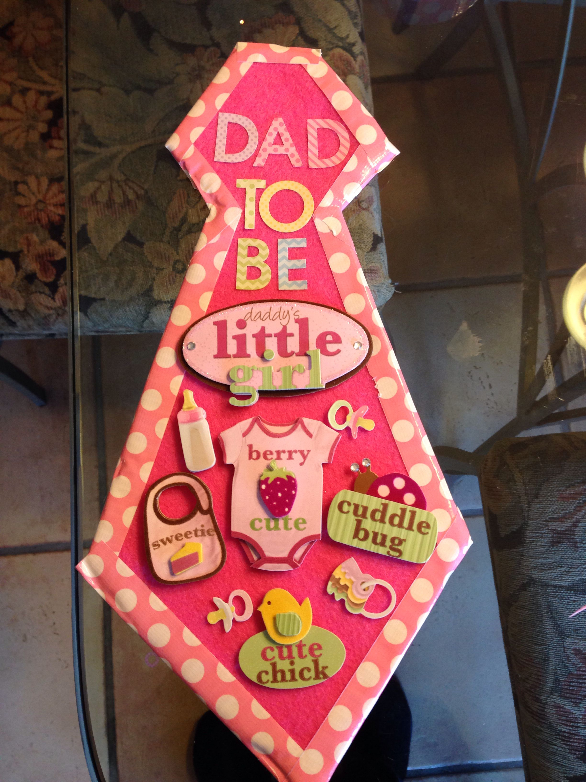 Dad To Be Tie Baby Showers Birthday Candles Shower Ideas Dads Babyshower