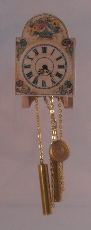 Schilder+Clock+by+Hermann+Straeten+-+$160.00+:+Swan+House+Miniatures,+Artisan+Miniatures+for+Dollhouses+and+Roomboxes