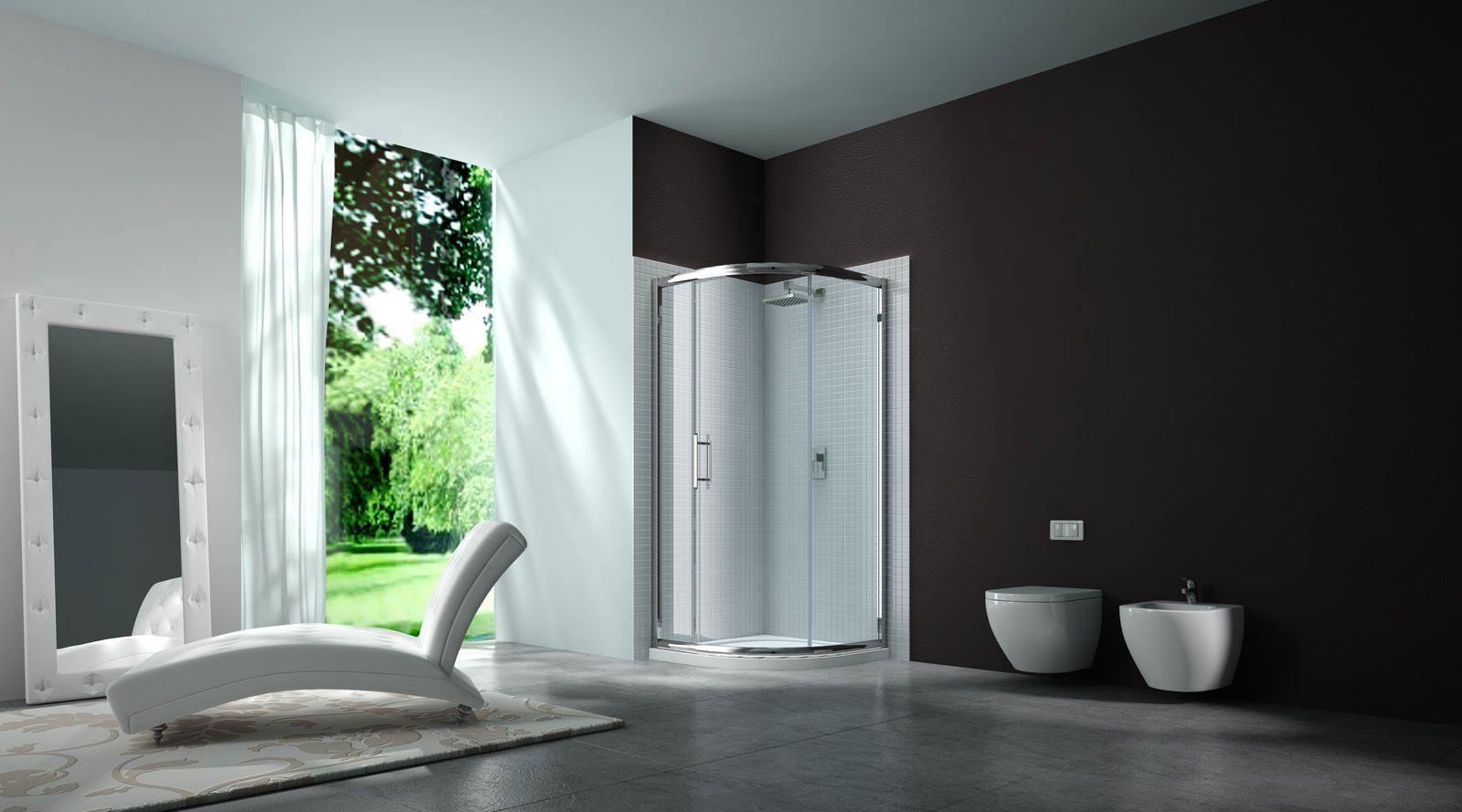 1 Door Quadrant | Merlyn Quality Shower door | Curved Sliding ...