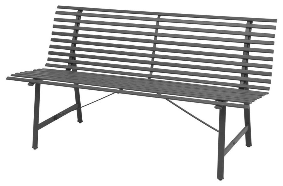 Vidaxl Garden Bench 59 Steel Anthracite Outdoor Park Seats Chairs