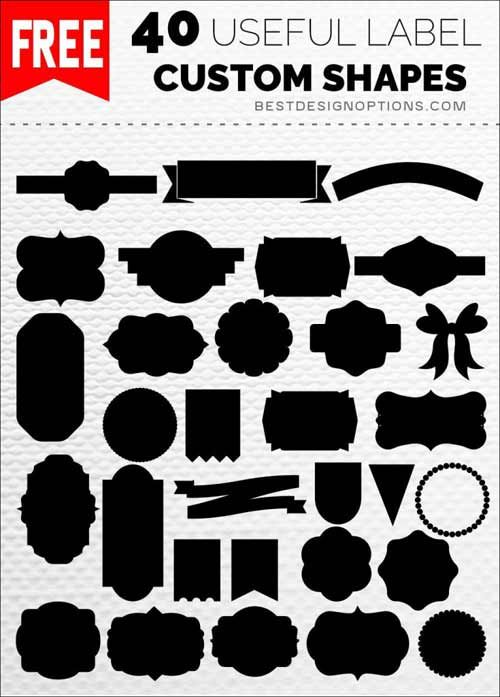 1K Custom Photoshop Shapes to Download Free | 1 | Pinterest | Free ...