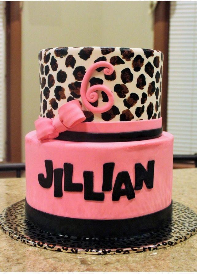 Birthday. Party cake cheetah leopard