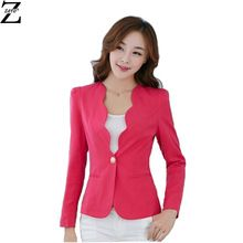 15b7ffcc57da Verão Blazer mulheres OL entalhado decote manga curta Blazer Feminino  mulheres Blazers sólidos elegante(China (Mainland))
