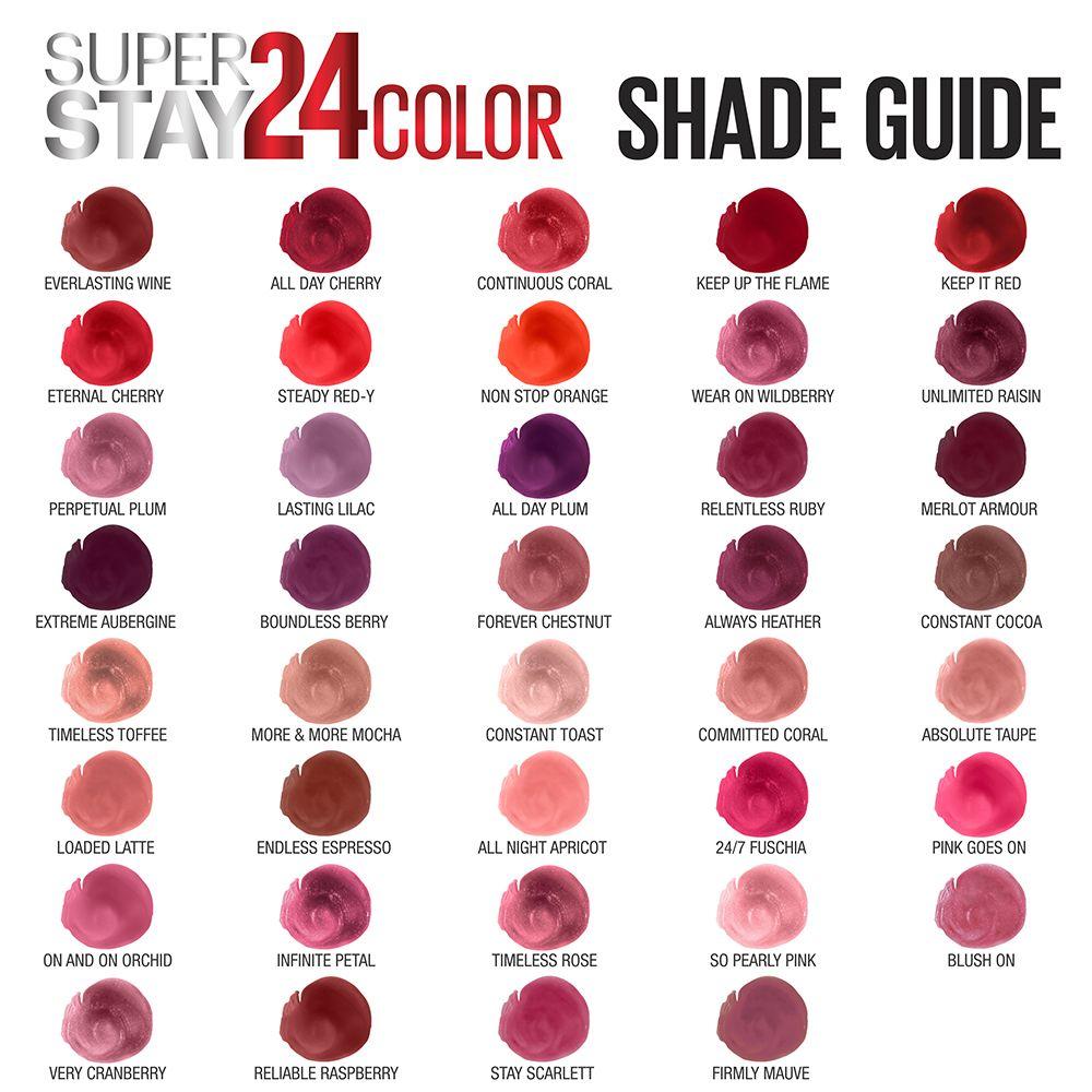 Maybelline SuperStay 24 Liquid Lipstick 24 hour lipstick
