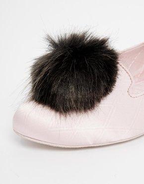 72e669f1c43eee Enlarge Ted Baker Iveye Pink Pom Pom Slippers