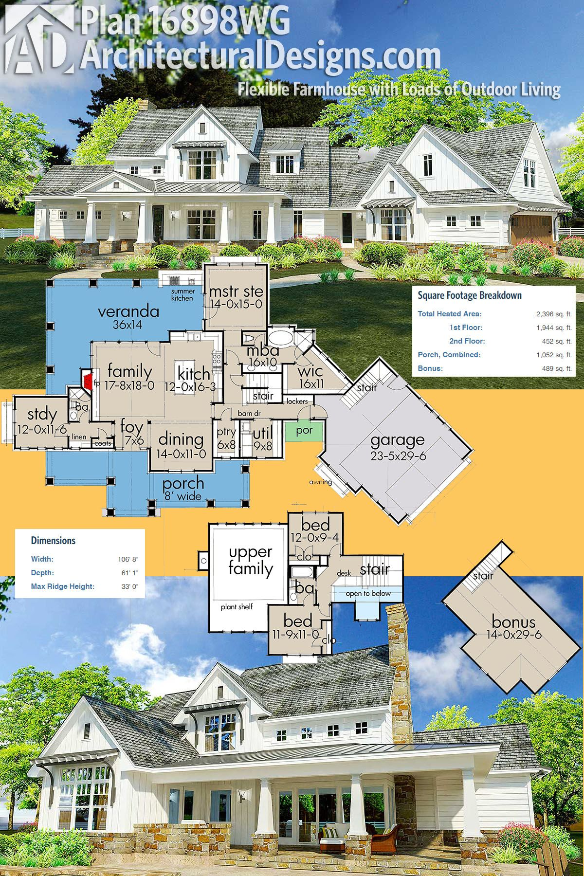 Plan 16898wg flexible farmhouse with loads of outdoor - Modern architectural designs floor plans ...
