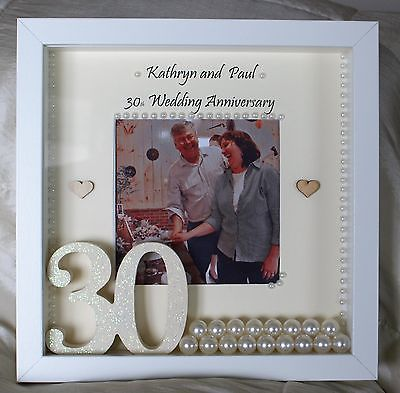 Details About Personalised 30th Pearl Wedding Anniversary Gift