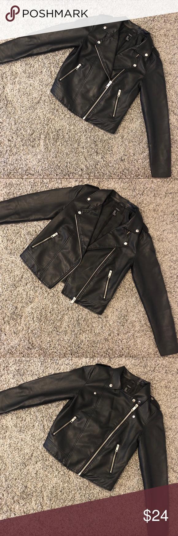 Nwot Black Leather Jacket Forever 21 Black Leather Jacket Leather Jacket Black Black Leather [ 1740 x 580 Pixel ]